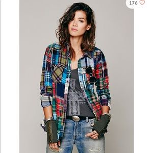 Free People Patchwork Plaid Flannel